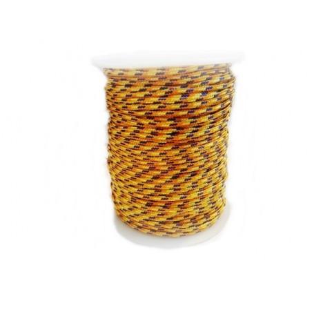 Snur paracord 2,5 mm galben multicolor (1metru)