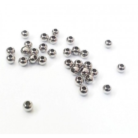 Distantiere argintii, otel inox sfere 3mm