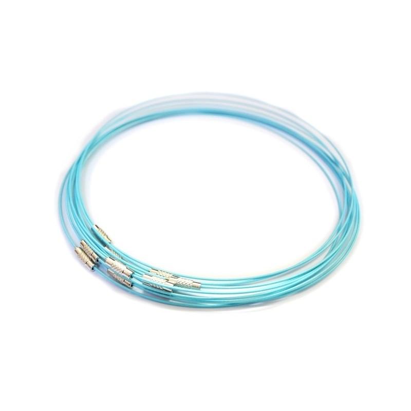 Baza colier, siliconata , albastru deschis , diametru 45cm