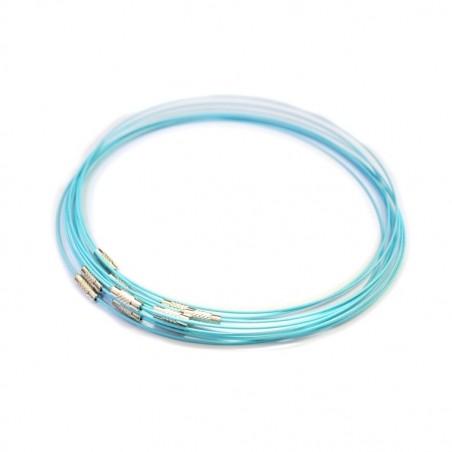 Baza colier, siliconata , albastru deschis , diametru 14.5cm