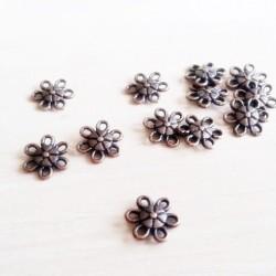 Charm, link floare cupru 12mm