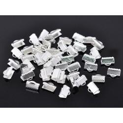 Terminatie panglica argintata 10x7mm (2buc)