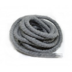 Snur gros bumbac, gri inchis 10mm (50cm)