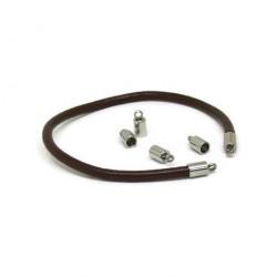 Capat snur inox , 8x4mm (Ø 3mm)
