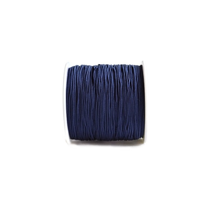 Snur nylon albastru inchis 0,8mm, pentru bratari (5metri)