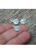 Charm Yin Yang 10x2,5mm