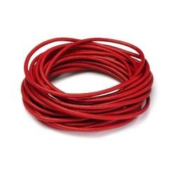 Snur piele rosie 2mm (1metru)