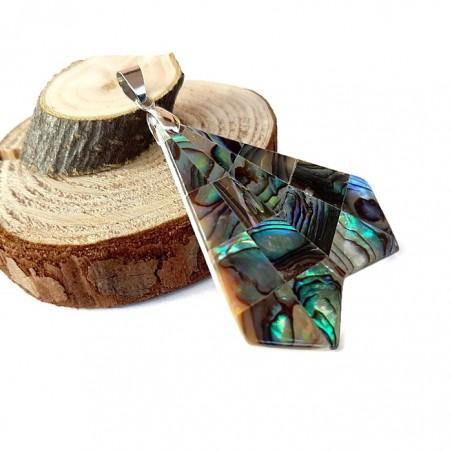Pandantiv paua abalone 42x41x3mm