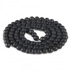 Margele onix, negru mat 6mm