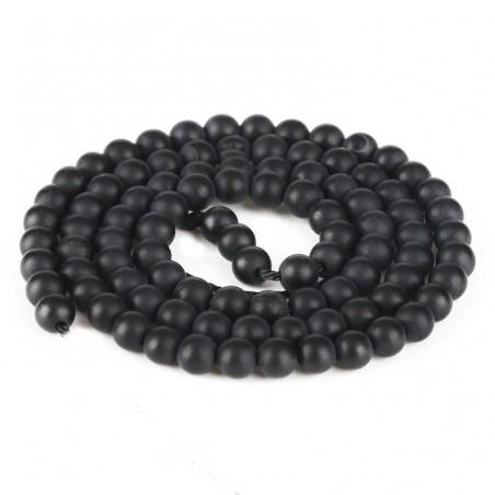 Margele onix negru mat 6mm
