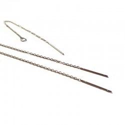 Accesorii cercei argintii otel inoxidabil  98x0,5mm (1per)