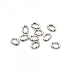 Zale ovale argintate 5,5x4mm (20buc)