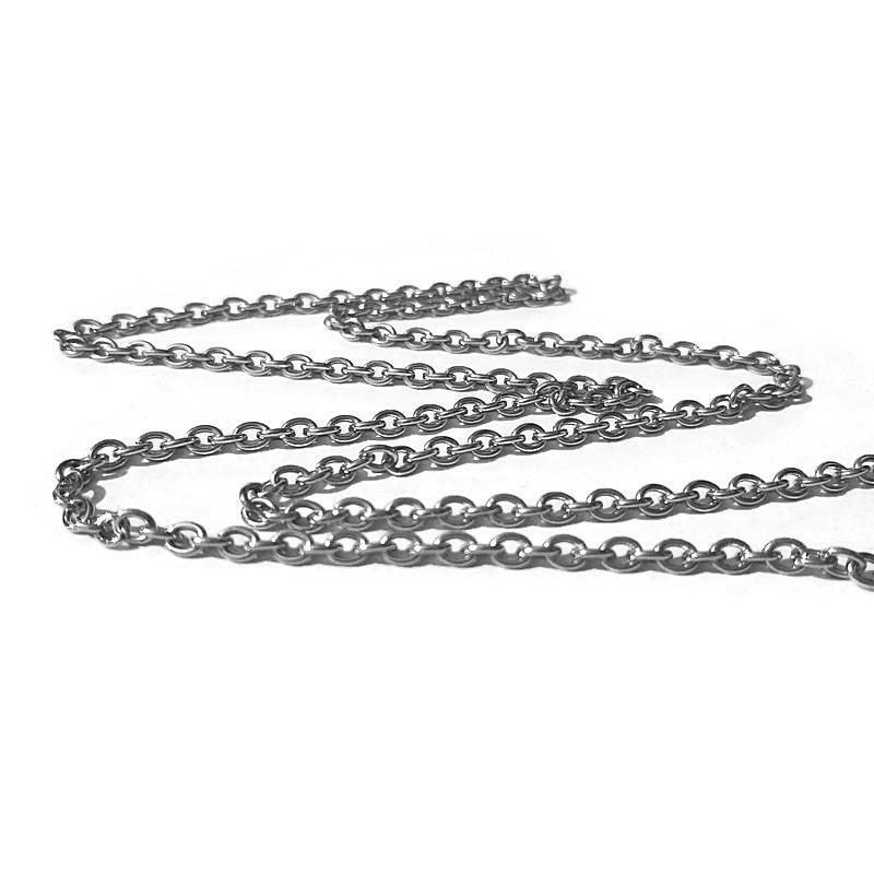 Lant argintiu otel inoxidabil 3x2mm (1m)