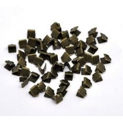 Terminatie colier,capat panglica, bronz 8x6mm (2buc)
