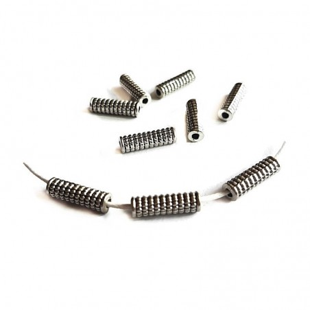 Margele metalice, distantiere tuburi 13x4mm