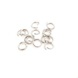 Zale argintii, deschise  5x0.7mm (10buc)