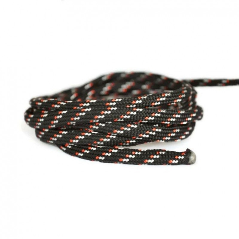 Snur paracord plat, negru,alb si roz, 4mm (1 metru)