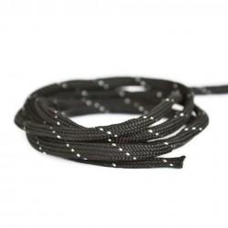 Snur paracord plat, negru si alb 4mm (1 metru)