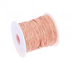 Snur bumbac cerat roz deschis 1mm  (5 metri)
