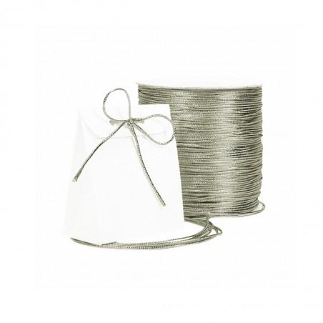 Snur elastic argintiu 1mm lurex, rexor (1metru)