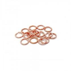 Zale inox roz auriu 5mm x 0,7mm (10buc)