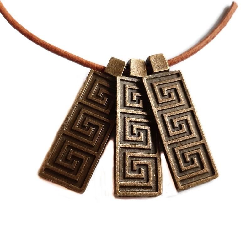 Pandantiv bronz motiv grecesc 38x13mm