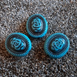 Margele boho ovale gravate 22x18mm