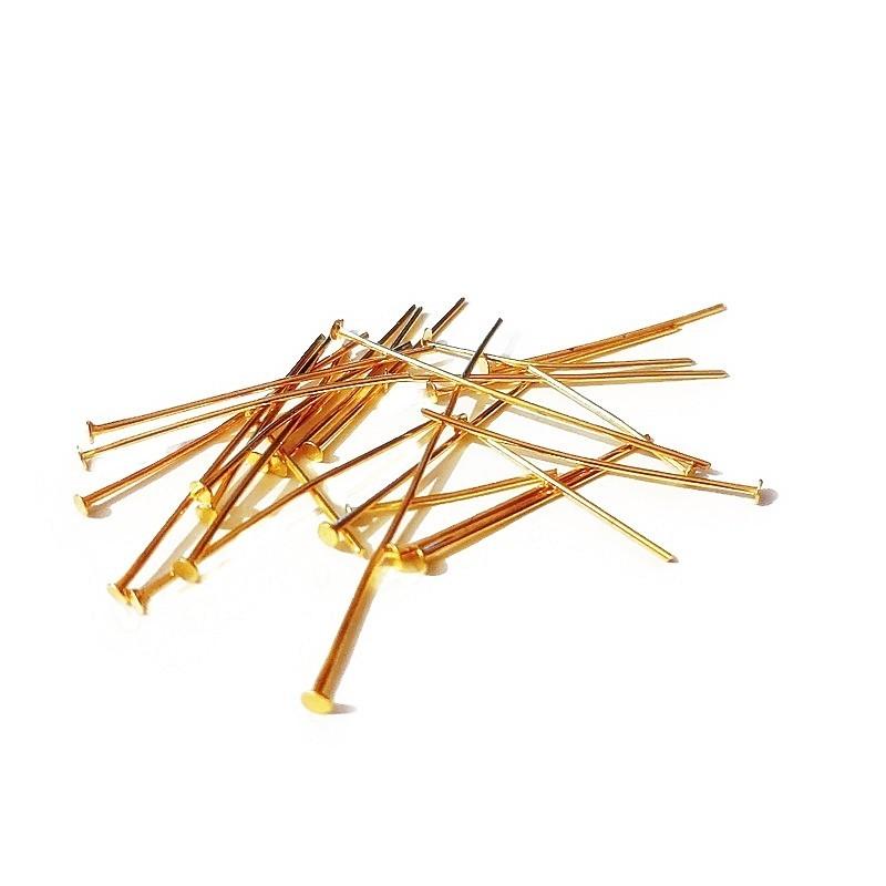 Mix ace cu cap, auriu 20-40mm (30 buc)