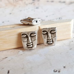 Margele metalice gravate, masca 12x10mm