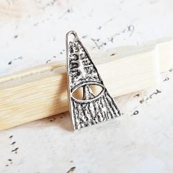 Pandantiv triunghiular copac stilizat 30x16mm