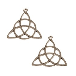 Pandantiv celtic triquetra 30x29x2mm