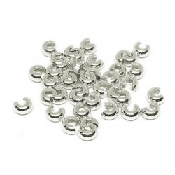 Crimp cover / masca crimpi 3mm, argintiu (2buc)