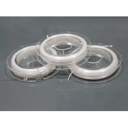 Elastic plat, alb pentru bratari, 0,8mm (10m)