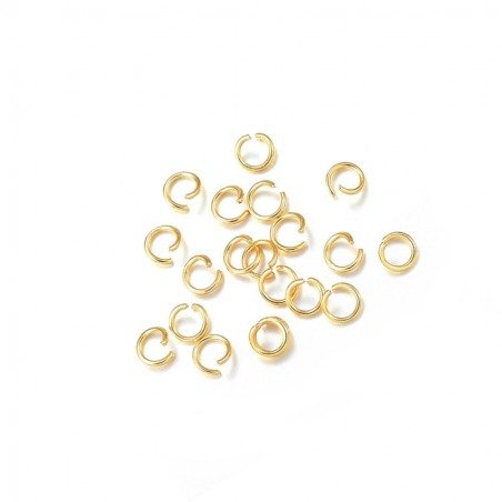 Zale inox auriu 4x0,6mm (20 buc)