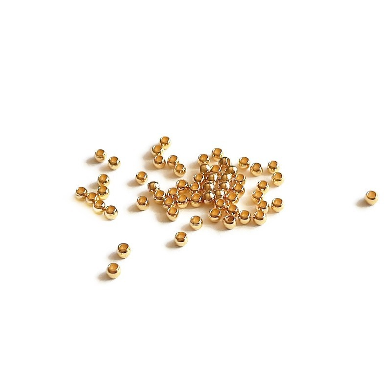 Crimpi inox auriu 2x1mm (10buc)