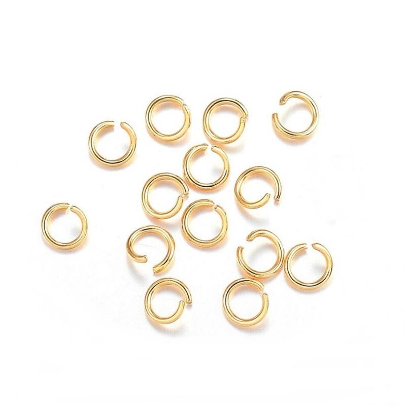 Zale inox auriu 5x0,8mm (20 buc)