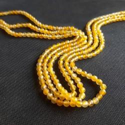 Agate fatetate galben auriu 4mm(10 buc)